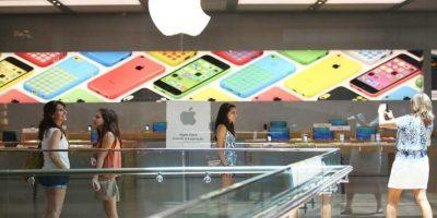 Es en esta donde más gente se forma año con año para esperar la salida del nuevo iPhone. Foto:Getty Images