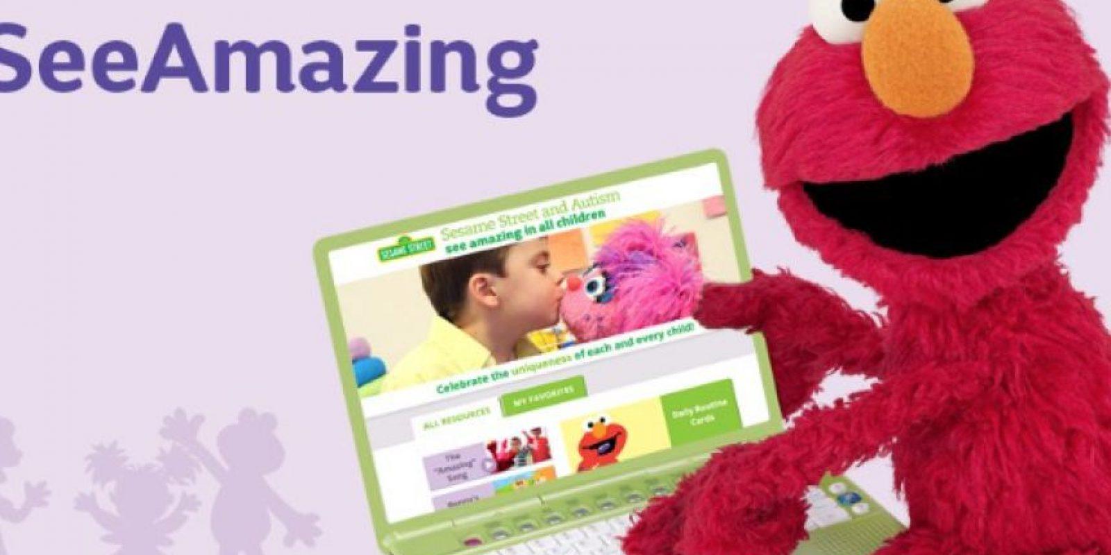 """""""Julia"""" es parte de """"Plaza Sésamo y el Autismo: Mira lo maravilloso en todos los niños"""" que se desarrolla en una aplicación que contiene elementos visuales. Foto:vía Facebook/SesameStreet"""