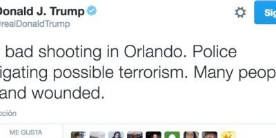 La reacción de Donald Trump en Twitter Foto:Twitter