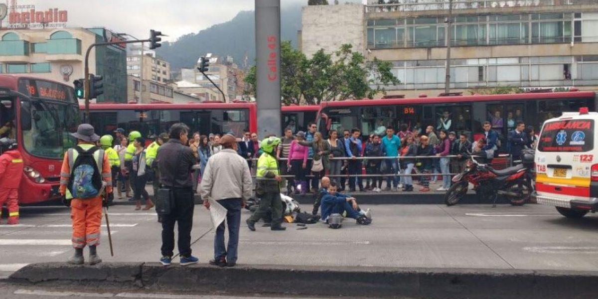 Grave accidente en la estación calle 45 de TransMilenio