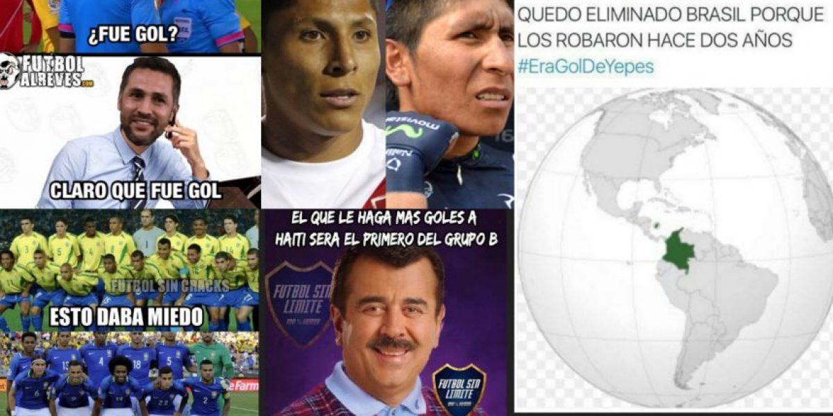 En Colombia se burlan de la eliminación de Brasil
