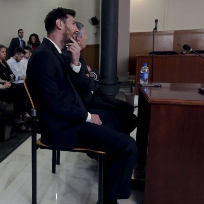 Así se presentó al juicio por fraude que se celebró en España Foto:AP