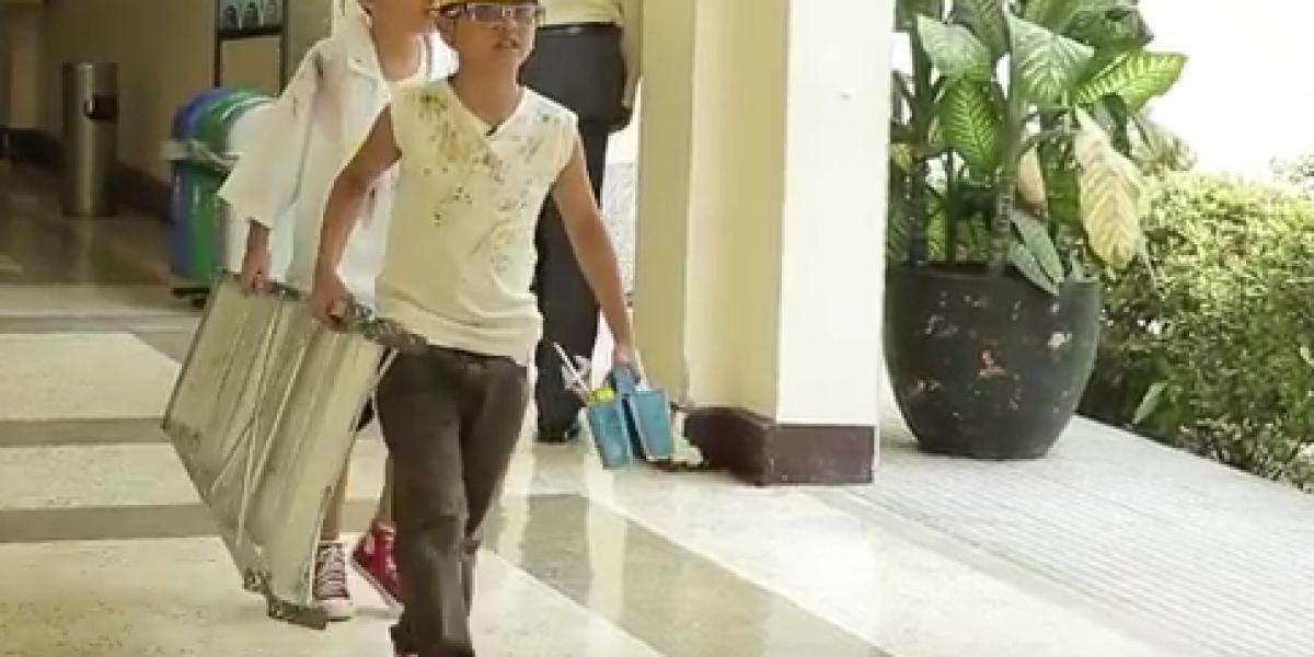 Gobernador de Santander puso niños a trabajar en campaña contra trabajo infantil