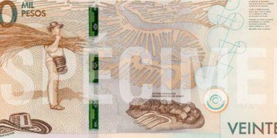 Este es el reverso del billete. Foto:Cortesía Banco de la República