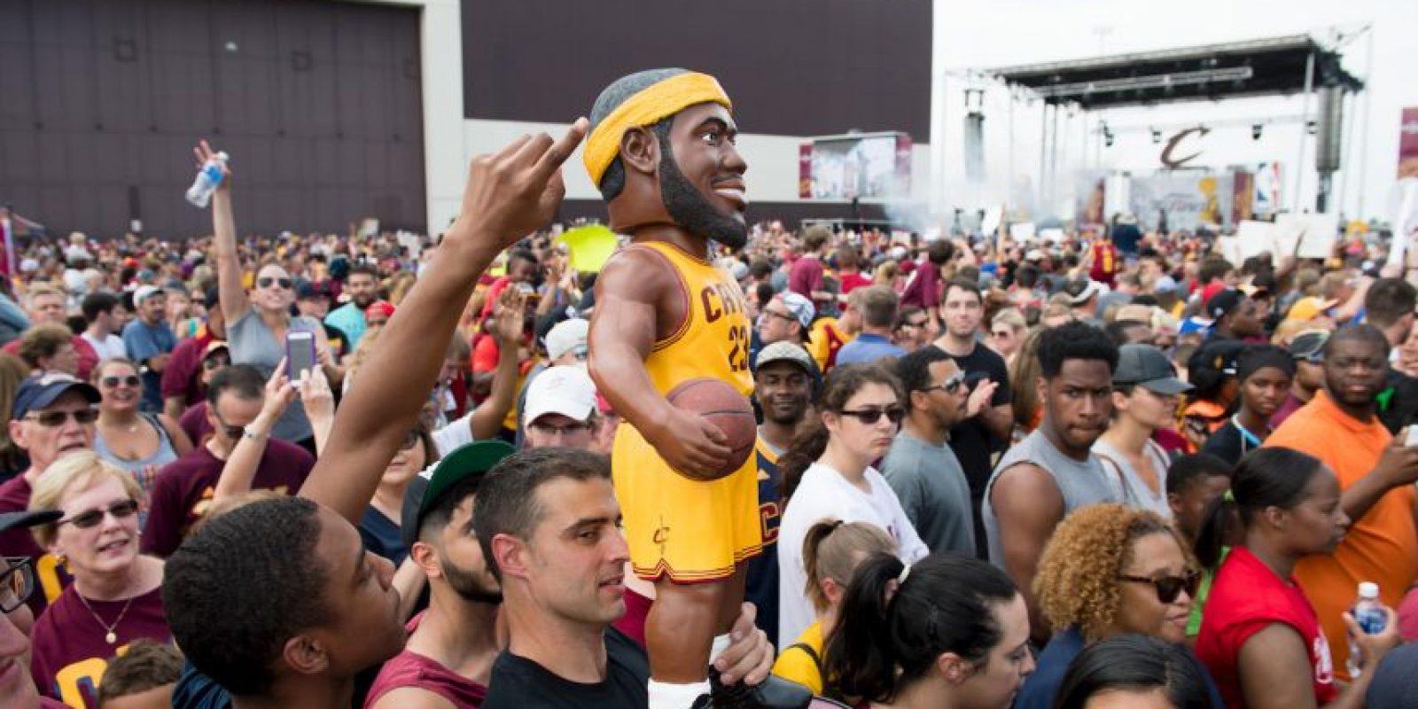Los jugadores fueron recibidos como héroes en Cleveland Foto:Getty Images