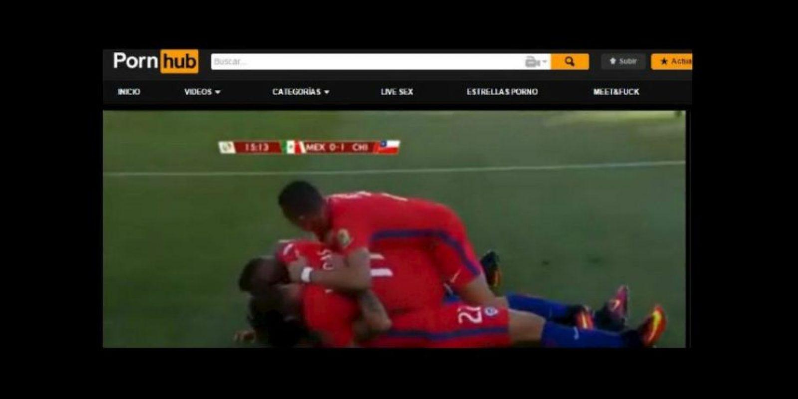 Un usuario del portal Pornhub subió el video de la goleada de Chile a México Foto:Pornhub
