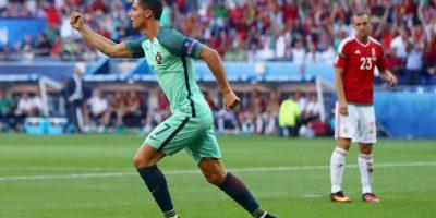 Pese a que tuvo un mal inicio en la Eurocopa, el delantero apareció en el momento justo para anotar un doblete y despacharse una asistencia en el empate a tres tantos de Portugal con Austria Foto:Getty Images