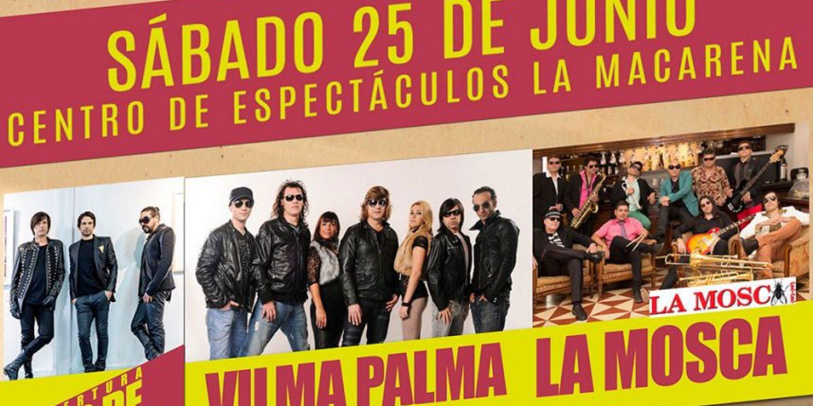 Concierto de clásicos inolvidables de  Vilma Palma e Vampiros, La Mosca Los de Adentro en La Macarena. Foto:Tomada de la Tiquetera.com