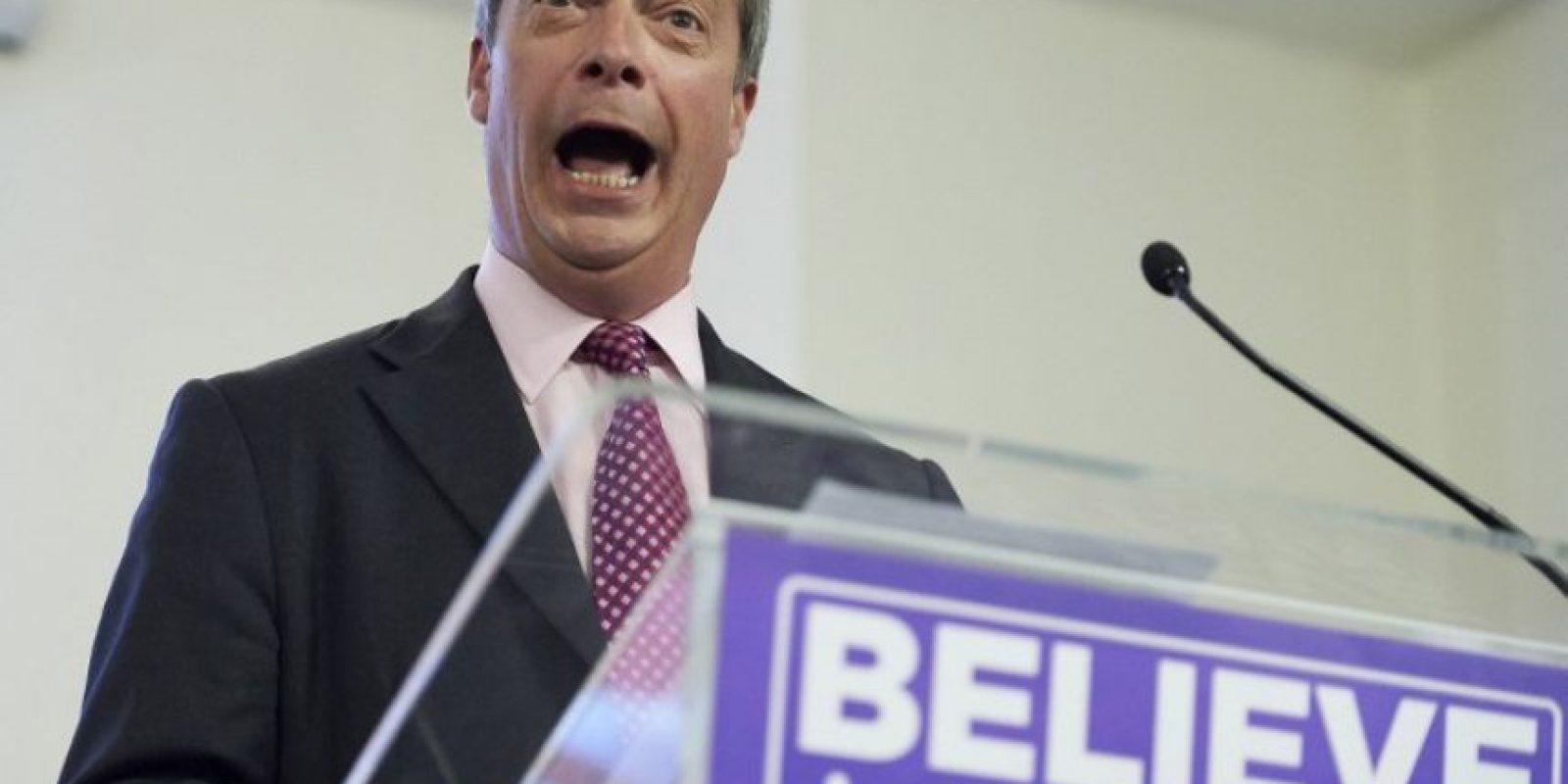 Entre los principales promotores están Nigel Farage, líder del partido UKIP Foto:AFP