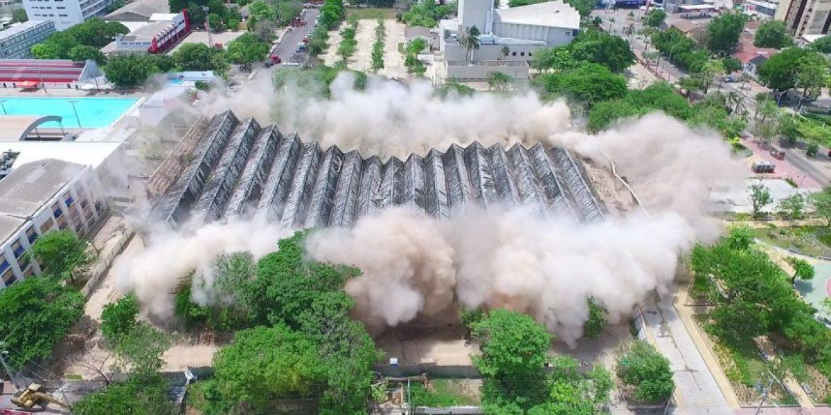 En fotos: las ruinas del Coliseo Humberto Perea darán paso a un Palacio de Combates en Barranquilla