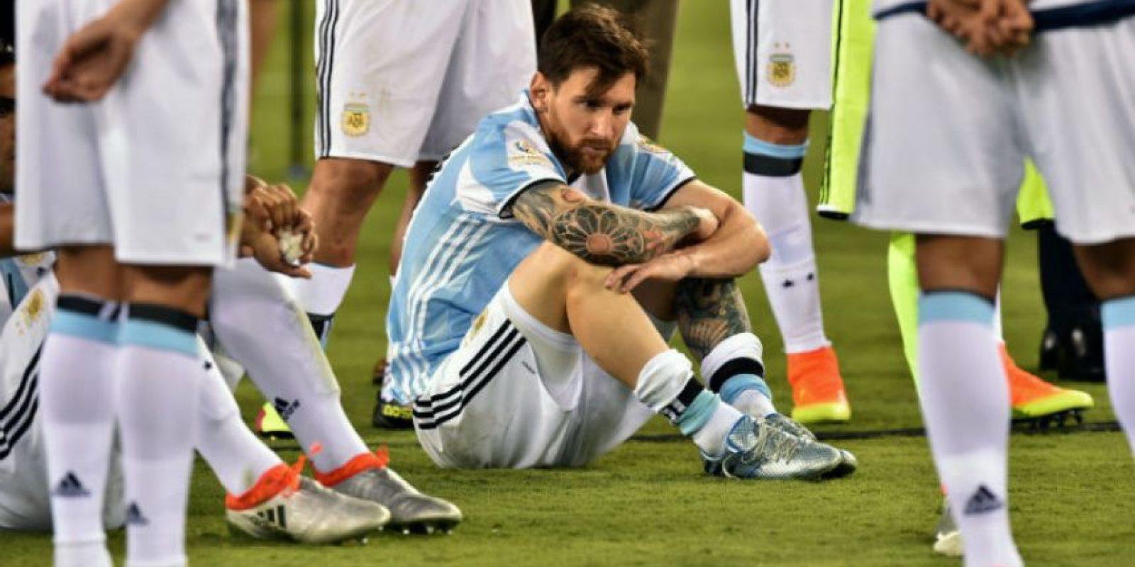 Lionel Messi renunció a la Selección de Argentina, luego de perder la final de la Copa América Centenario Foto:Getty Images