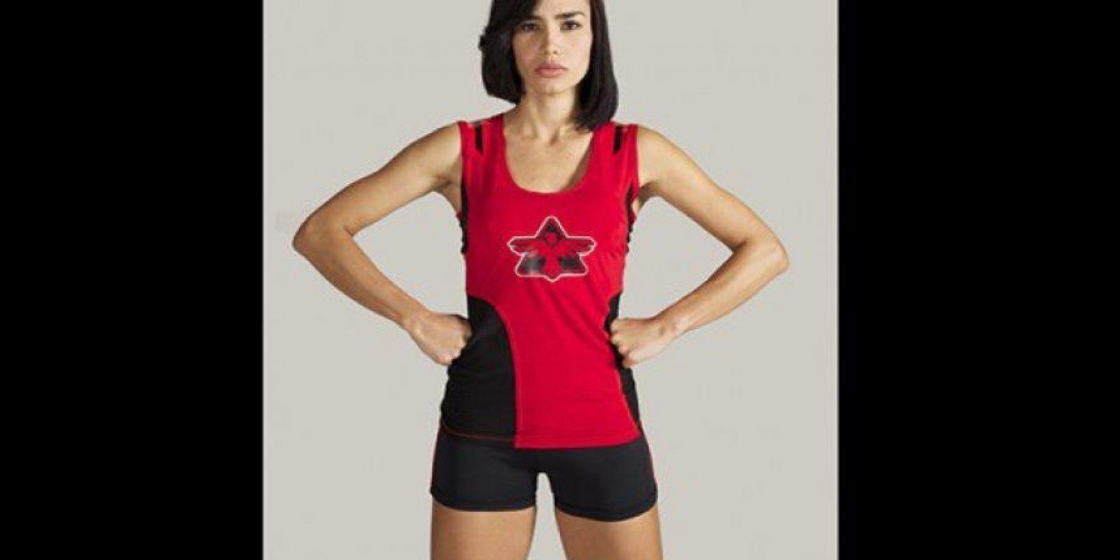 Karoline Rodríguez. Desde hace diez años entrena en un gimnasio, seis días a la semana, tres horas diarias. Foto:Cortesía Prensa Caracol Televisión