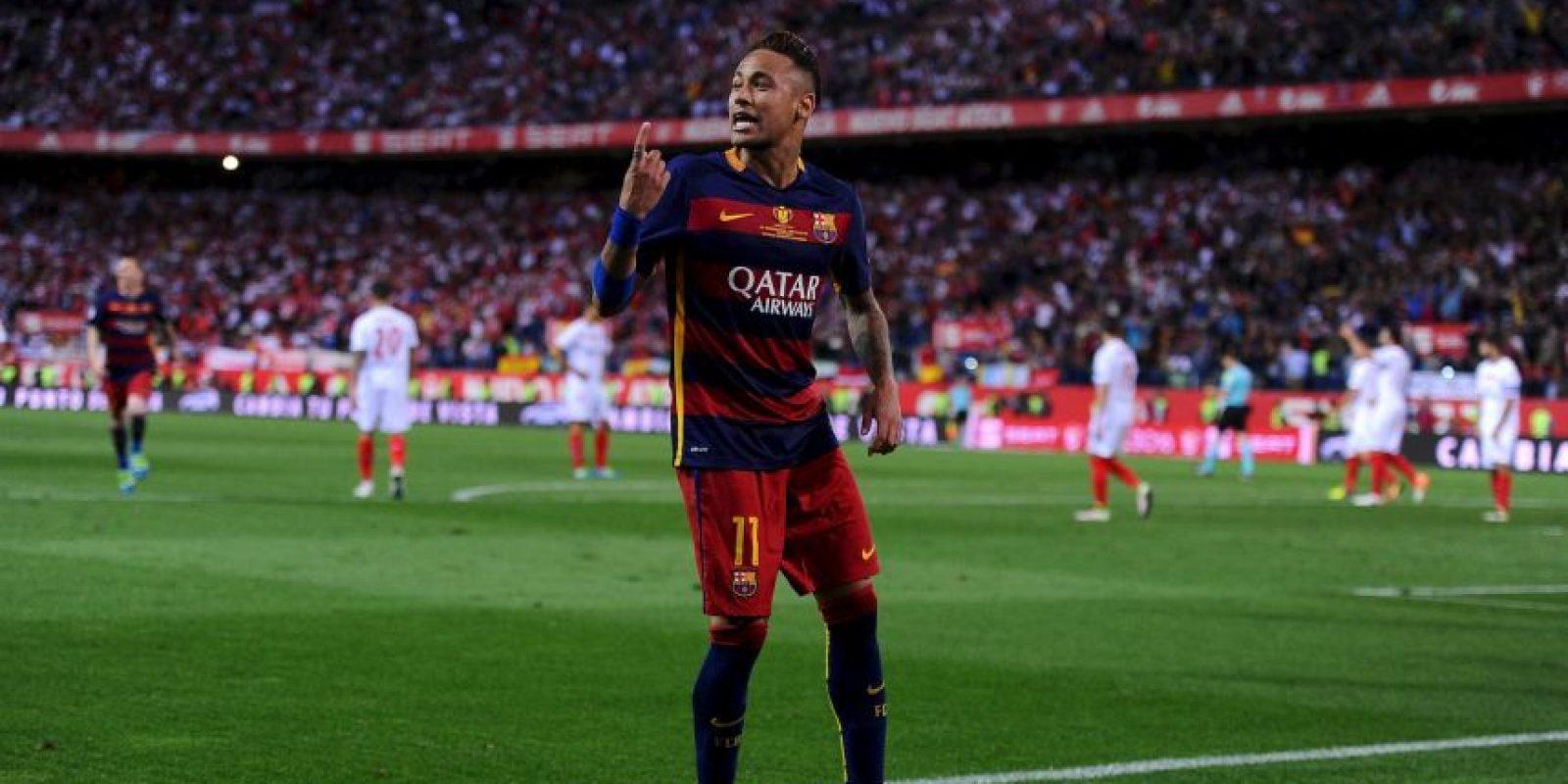 Neymar es parte de la temible 'MSN' de Barcelona, la que compone junto a Suárez y Messi Foto:Getty Images