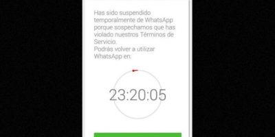 1.- Enviar spam Foto:WhatsApp