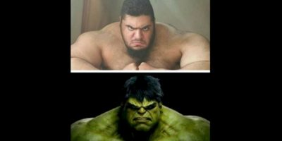 """Internautas comparan su fuerza física con la del superhéroe que forma parte del grupo """"Avengers"""" Foto:Vía instagram.com/sajadgharibii"""