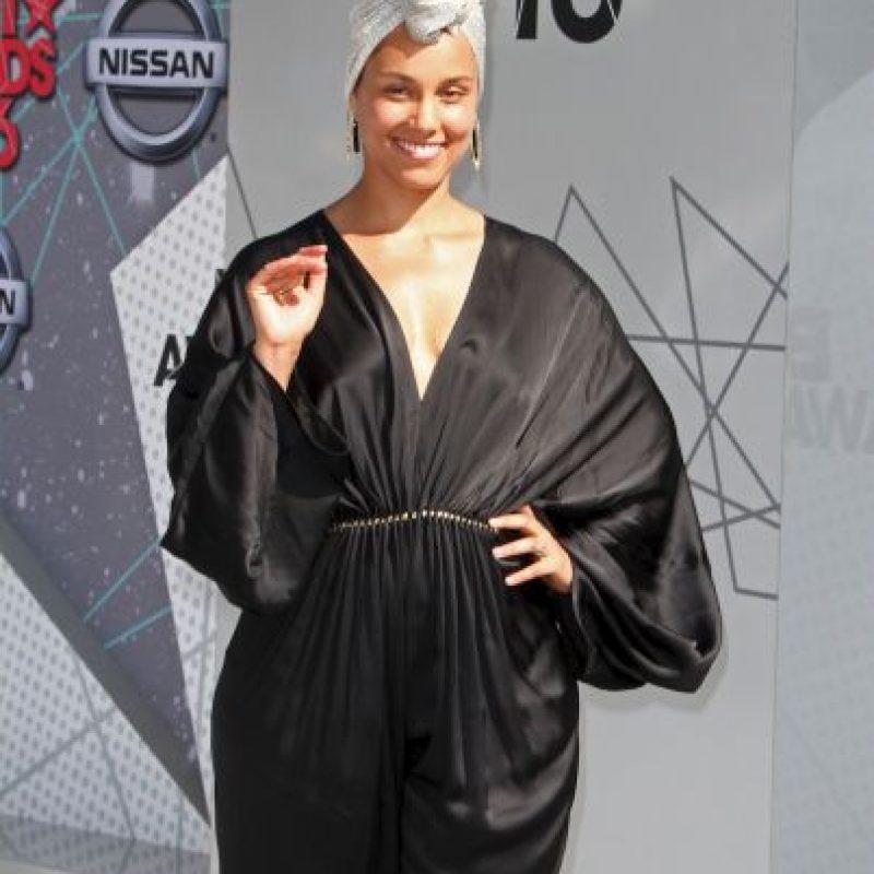 Alicia Keys y su naruralidad… Foto:Getty Images
