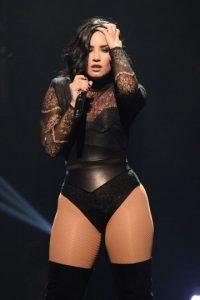 Así lucía Demi durante uno de sus shows en Florida Foto:Getty Images