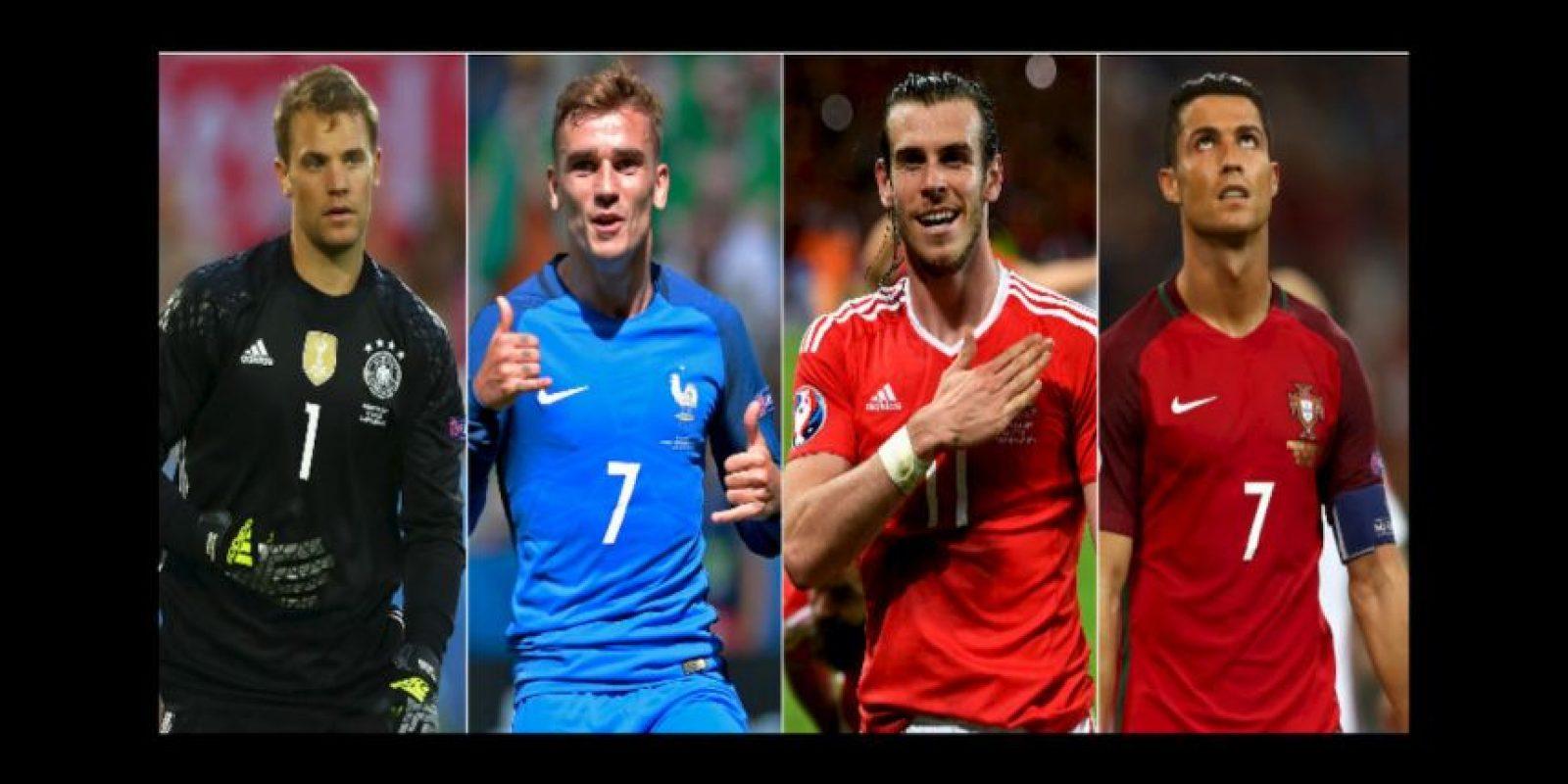 Los 4 líderes de los semifinalistas de la Euro 2016 Foto:Getty Images