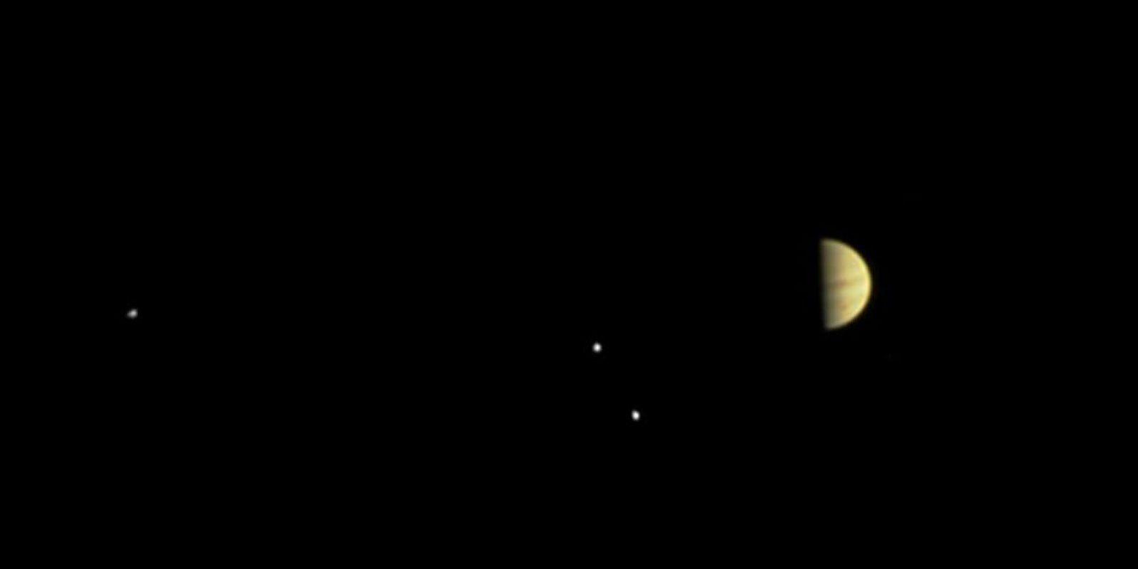 Se pueden apreciar las lunas Callisto y Europa Foto:NASA