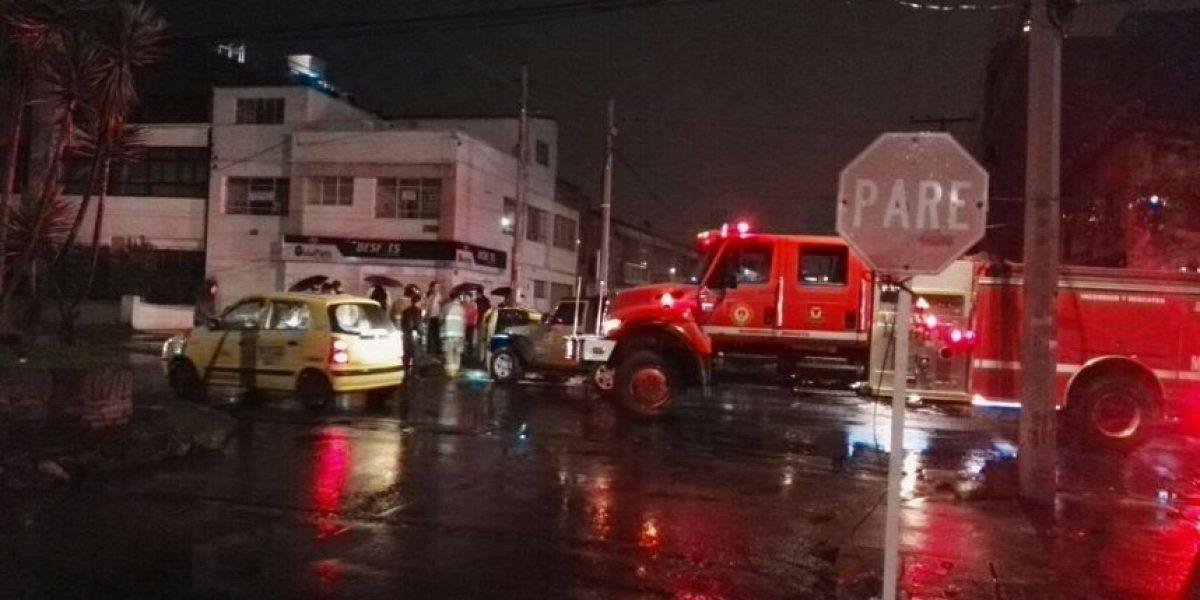 Grave accidente al nororiente de Bogotá