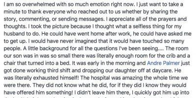 Amy Palmer no dejó pasar la oportunidad de agradecer las muestras de cariño e informar a sus seguidores sobre el estado de salud de su hijo y su marido.