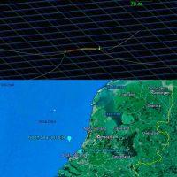La barrera de flotantes se colocó a 23 kilómetros de la costa de Países Bajos.