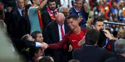 Cristiano Ronaldo recibió felicitaciones de muchas partes, pero hubo una que valoró: la de Alex Ferguson Foto:Getty Images