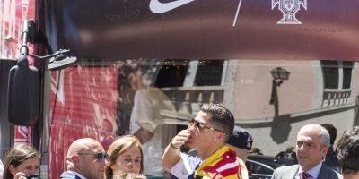 Cristiano Ronaldo lideró los festejos de Portugal en Lisboa Foto:Getty Images