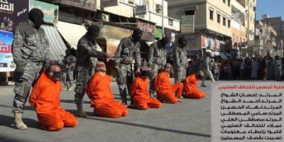 Los futbolistas son acusados de practicar una actividad contraria al Islam Foto:Twitter @Raqqa_SL