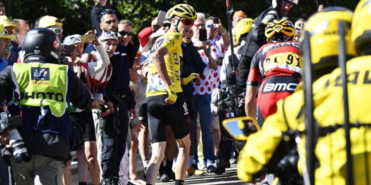 En fotos: Así fue el accidente de Froome en la etapa 12 del Tour
