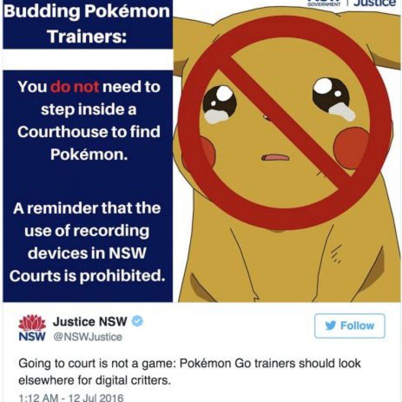 En la Corte, por que grabar o fotografías las sesiones suele estar prohibido en algunos países Foto:Twitter.com