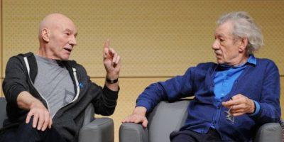 Patrick Stewart e Ian McKellen confesaron haber visto al fantasma de un famoso dramaturgo mientras interpretaban una obra de teatro Foto:Getty Images