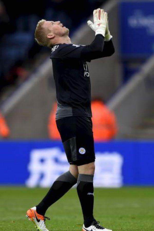 Kasper Schmeichel es el portero titular del Leicester Foto:Getty Images