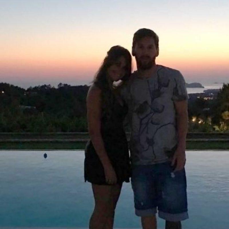 Leo disfruta junto a su pareja, Antonella Roccuzzo. Foto:Vía instagram.com/antoroccuzzo88