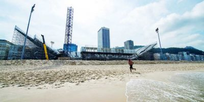 La arena devoleibol de playa es el más grande en el borde de Copacabana, con capacidad para 12 mil personas Foto:BRUNA PRADO / METRO RIO