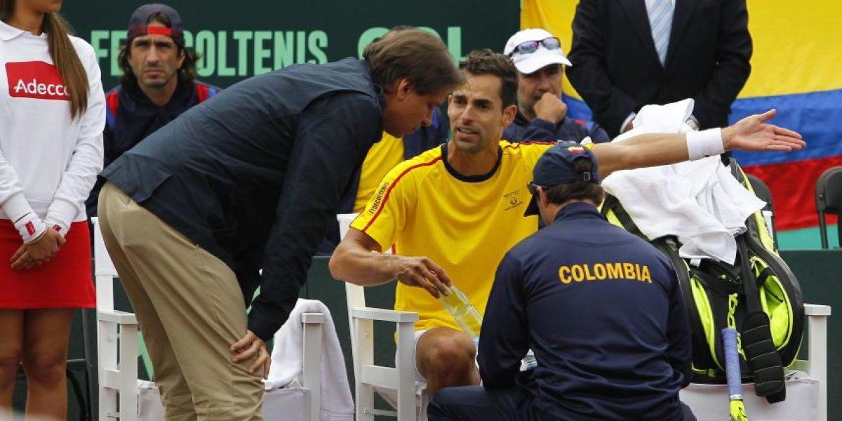 Giraldo se retiró y Colombia perdió en la Copa Davis con Chile