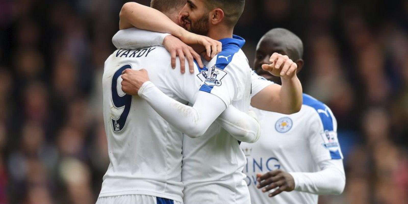 Riyad Mahrez y Jamie Vardy estuvieron a un paso de entrar en la lista de los diez mejores de Europa. Sin embargo, no pudieron quedar seleccionados y los campeones de la Premier League se quedaron sin representación Foto:Getty Images