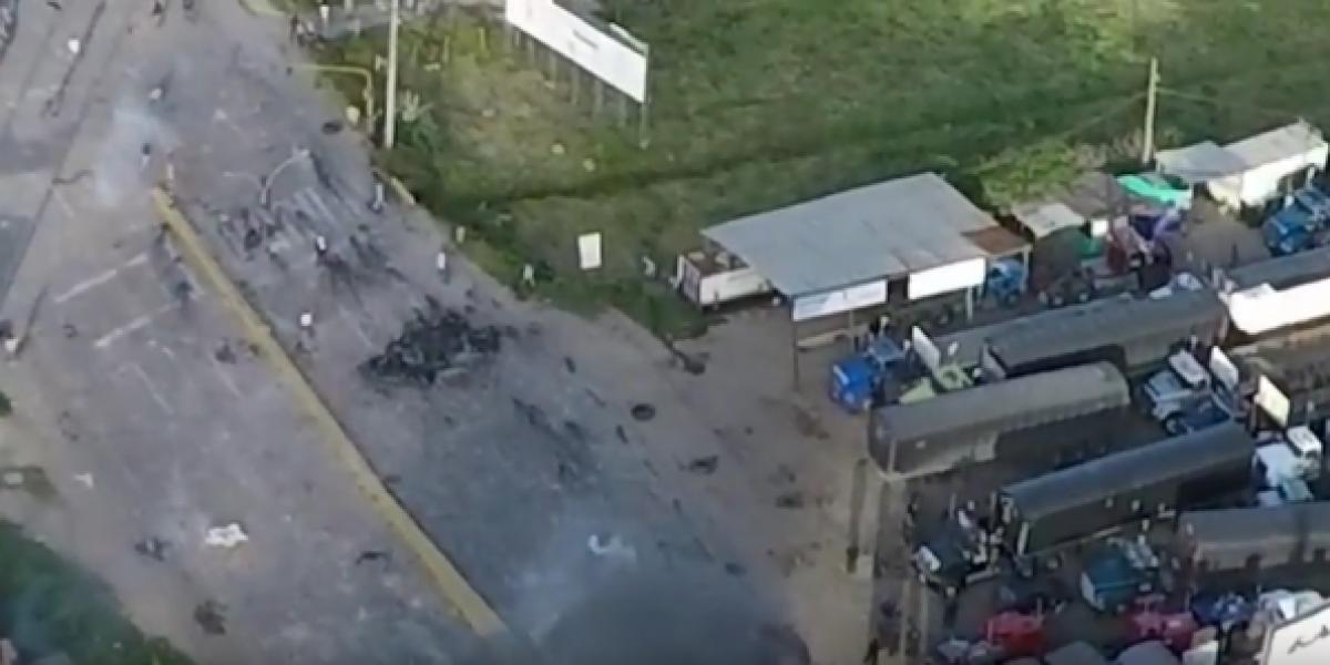 Dron grabó la muerte del joven en los disturbios del paro camionero