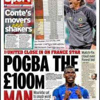 En Inglaterra también destacaron la reunión del agente de Pogba con los dirigentes del United Foto:Daily Mirror