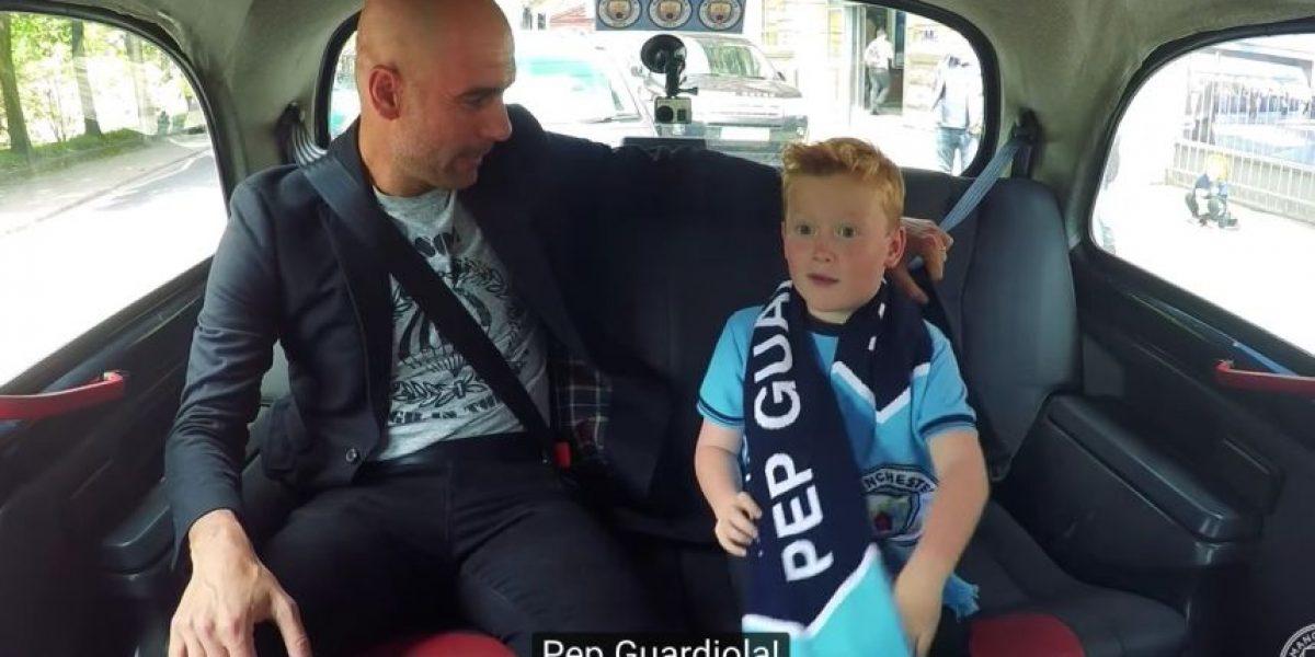La tremenda emoción de un niño al conocer a Pep Guardiola