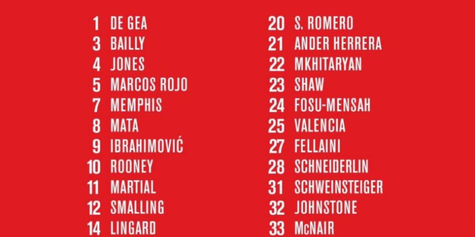 Ahora, con la llegada de Zlatan Ibrahimovic, pasará a usar la 11 Foto:Twitter oficial Manchester United