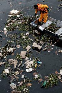 Hace unos días se publicaron estas imágenes de la Bahía Guanabara Foto:AFP