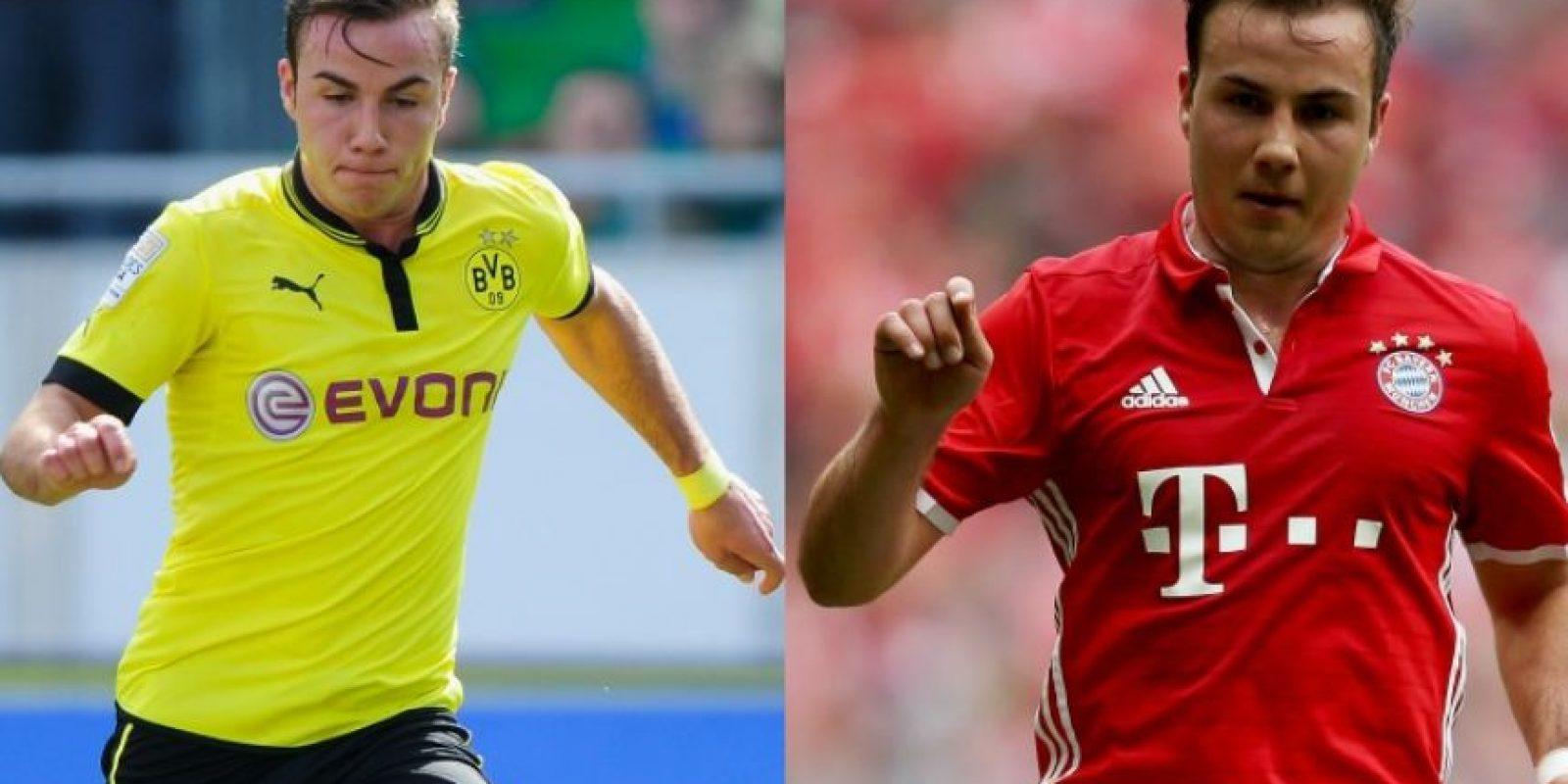 Otro caso de traición en Alemania es el de Mario Gotze, quien dejó Borussia Dortmund, club que lo formó como jugador, para irse a Bayern Munich. Las poleras quemadas estuvieron a la orden del día, pero ahora seguramente las querrán recuperar tras su retorno a Dortmund Foto:Getty Images