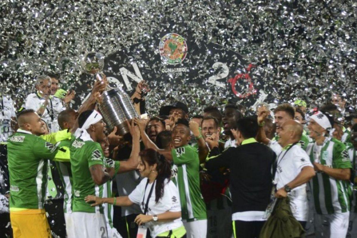 El título de Atlético Nacional le sirvió a Colombia para sumar tres coronas de América. Los verdolagas suman dos trofeos Foto:AFP