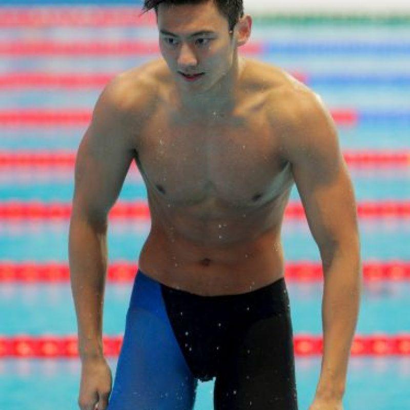 Ning Zetao. El también chino estuvo un año fuera de la natación por consumo de clembuterol Foto:Getty Images