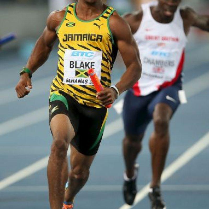 Yohan Blake. Fue suspendido tres meses en 2009, por el consumo de estimulantes Foto:Getty Images