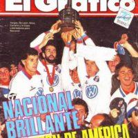 Nacional, en tanto, tiene 3 títuos de América Foto:Archivo revista El Gráfico