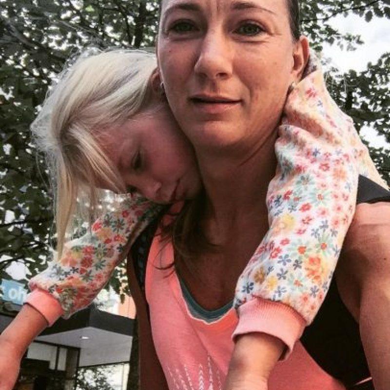 Acá está con su hija. Foto:Instagram