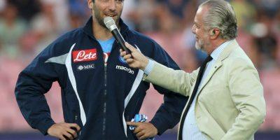 El presidente de Napoli, Aurelio De Laurentis, no le perdona su fichaje Foto:Twitter Juventus
