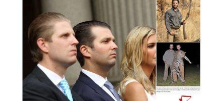 A Trump lo critican por sus hijos también: porque van a cazar y porque Ivanka tiene cuestionables manejos con las copias que hace su firma. Foto:Twitter